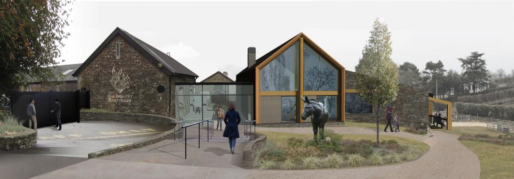 Donkey Sanctuary Photomontage - entrance