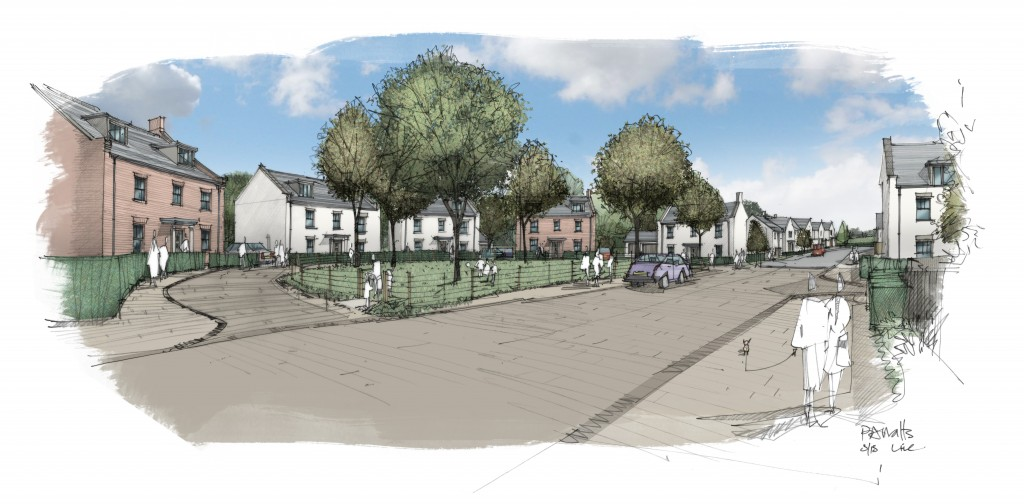 150331 - Clyst St Mary Artist's Perspective 01 Render