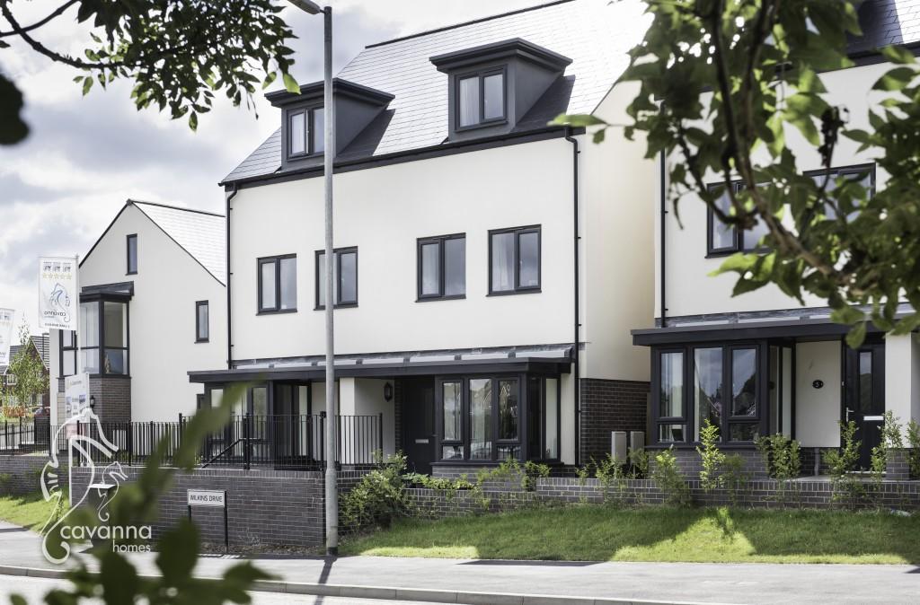 © Guy Newman. 18.07.15. Exterior pictures of Cavanna Homes Fusion development, Paignton, Devon.